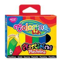 Пластилин квадратный Colorino 6 цветов