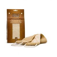 Мочалка для тела Aqua Massage Corpo Relax из сизаля и хлопка с ручками