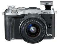 DC Canon EOS M6 + EF-M 15-45 STM KIT Silver + CaseLogic DCB-304