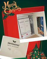 Аксессуар для зубных щеток Dentissimo Set Black (pasta de dinti,apa/gura,perie)