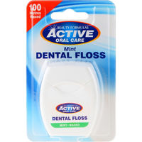 Зубная нить Active Oral Care Oral Care Improved Mint Waxed Dental Floss with Fluoride, 100 м