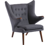 Деревянное обитое кресло, 910x940x1050 мм
