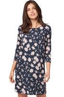 Платье TOM TAILOR Темно синий с принтом 1012514