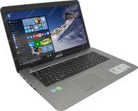"""NB ASUS 17.3"""" X756UQ Grey (Core i3-7100U 8Gb 1Tb) 17.3"""" Full HD (1920x1080) Non-glare, Intel Core i3-7100U (2x Core, 2.4GHz, 3Mb), 8Gb (2x 4Gb) PC4-17000, 1Tb 5400rpm, GeForce 940MX 2Gb, HDMI, DVD-RW, Gbit Ethernet, 802.11ac, Bluetooth, 1x USB 3.1 Type C, 1x USB 3.0, 2x USB 2.0, Card Reader, Webcam, DOS, 2-cell 38 WHrs Polymer Battery, 2.7kg, Metallic Grey"""