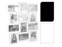 купить Фоторамка - коллаж 12фото (10X15cm) белая/черная в Кишинёве