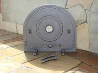 Дверца чугунная глухая с термометром PIZZA 5Т