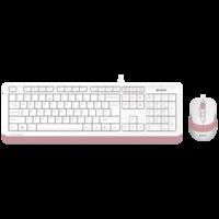 Клавиатура A4Tech F1010 Kit White/Pink