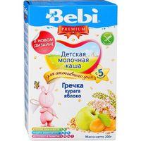 Bebi Premium каша гречневая молочная, курага, яблоко, 5+мес. 200г