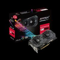 """VGA card PCI-E ASUS STRIX-RX570-O4G-GAMING AMD Radeon RX 570, GDDR5 4GB, 1300MHz (OC Mode) 1310 MHz (Gaming Mode), Memory Clock 7000 MHz,  256-bit, 2xDVI-D, HDMI 2.0, DP, Power Connectors 1 x 8-pin"""