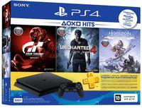 SONY PlayStation 4 Slim 1TB+GTS+HZD+SpiderMan+PSPIus 3M