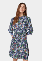 Платье TOM TAILOR Темно синий с принтом