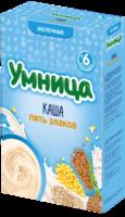 Umnitsa terci din 5 cereale cu lapte, 6+ luni, 200 g