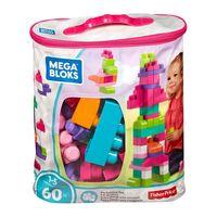 Constructor roz într-o geantă (60 b.) Mega Bloks, cod DCH54