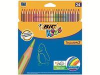 Набор карандашей цветных 24шт BIC Tropicolors