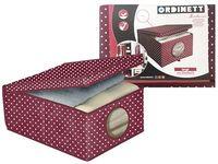 Коробка для хранения Bordeaux 50X40X25cm с крышкой, тканевая