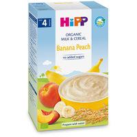 Terci organic Hipp din orez cu banane, piersici și lapte (4+ luni), 250gr.