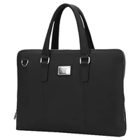 "15.6"" NB Bag - CONTINENT CL-105 BK, Black, Briefcase, Natural Leather"