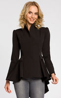 Пиджак MOE Чёрный MOE Black Asymmetric