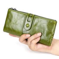 Длинный кошелек для женщин и девочек из натуральной  кожи.