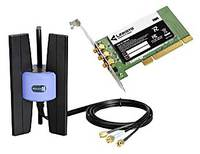 Adaptor PCI wireless N LAN Linksys WMP300N-DE