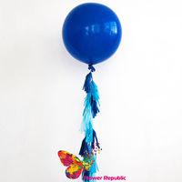 cumpără Big Ballon Turcoaz cu demisiunea mare cu ghirlandă tassel în Chișinău
