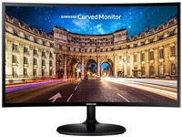 """27.0"""" SAMSUNG """"C27F390FHU"""", G.Black/Blue (Curved-VA 1920x1080, 4ms, 250cd, LED Mega-DCR, HDMI) (27.0"""" Curved-VA W-LED, 1920x1080 Full-HD, 0.311mm, 4ms (GtG), 250 cd/m², Mega ∞ DCR (3000:1), 16.7M, 178°/178° @CR>10, D-Sub + HDMI, HDMI Audio-In, Headphone-Out, External Power Adapter, Fixed Stand T-Sape (Tilt -2/+15°), VESA Mount 75x75, Magicbright, Magicupscale, Eco saving plus, Eye saver mode, Flicker free, Game mode,  Glossy-Black )"""