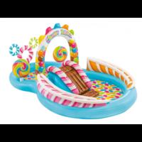 Intex Детский надувной центр бассейн с горкой