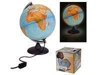 Глобус политическая карта мира D20см с подсветкой