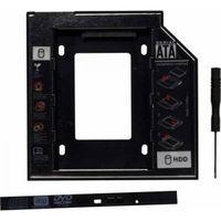 Rack Caddy Spacer HDD/SSD SPR-25DVDI, Notebook CD/DVD Bay, 9mm