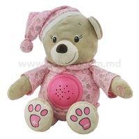 "Baby Mix EE-TE-8465-30 P Игрушка плюшевая с проектором ""Мишка"" розовый"