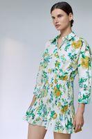 Rochie ZARA Alb cu imprimeu floral 2183/241/251