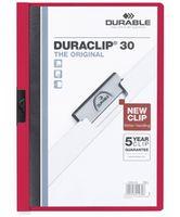 Durable Папка с клипом DURACLIP 30 A4 пластиковая красная