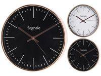 Часы настенные круглые D25cm, корпус медный цвет