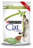 Cat Chow Sterilised с ягнёнком и зелёной фасолью в желе, 85 г