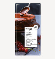 Темный шоколад для выпечки 70% какао 200г bio