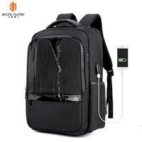 """Классический рюкзак Arctic Hunter B00120С для ноутбука 15.6"""", с USB портом, водонепроницаемый, чёрный"""