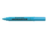 Marker Centropen text 1-4,6 mm albastru în formă de pană
