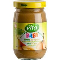 Vita Baby пюре груша, 4+ мес. 180 г