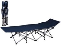 Pat rabatabil pentru camping 189X70X37cm, max110kg, metal, 2 culori