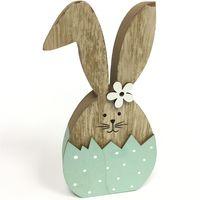 Заяц деревянный в яйце 14см