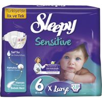 Подгузники Sleepy Sensitive гипоаллергенные 6 Jumbo X Large