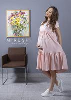 Платье для беременных и кормящих мам перcик