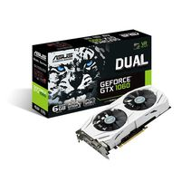 ASUS DUAL-GTX1060-6G, GeForce GTX1060 6GB GDDR5, 192-bit