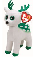 Ty Peppermint White Reindeer 15cm (TY37237)