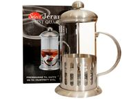 Чайник заварочный с прессом 0.6l стекло/нерж сталь