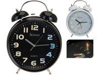 Часы-будильник со светящимся циферблатом 23.5Х8.2Х30.5 мета