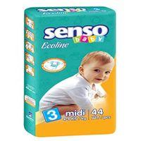 Senso Baby Ecoline Scutece Midi 3, 4-9 kg, 44 buc.