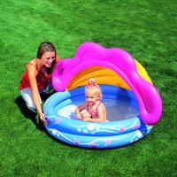 Бассейн детский с защитой от солнца, 142x142x86