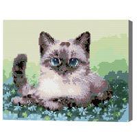 Сиамская кошка, 30x40 см, алмазная мозаика QS200364