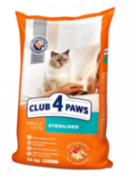 Клуб 4 лапы  для кастрированных кошек,14кг